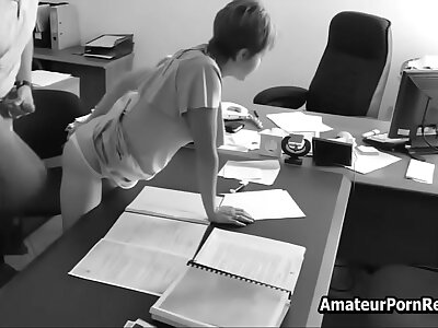Inferior Porn Office Spycam Caught Bigwig Fucks Secretary