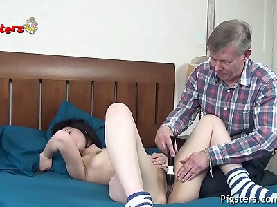 Horny Old Camera Man Makes Young Chisel Cum Then Has Sexual congress With Her