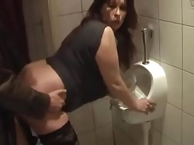 German Milf acquire good Fuck from Young Mendicant in the first place the rest room