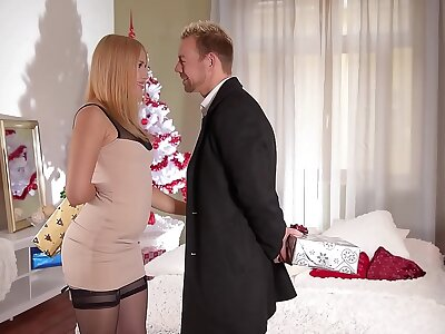 Clanging Her Bell - Blonde Teen Alana Lieutenant Hardcore Fucked on XXXmas